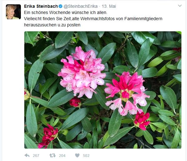 Tweet Erika Steinbach Wehrmachtfotos