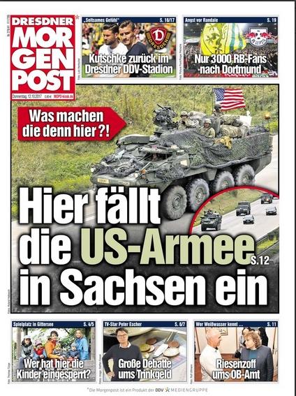 US-Armee fällt in Sachsen ein